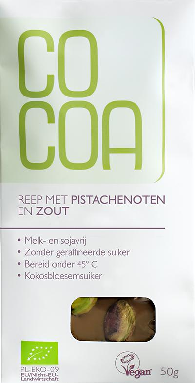 cacao wit pista zout