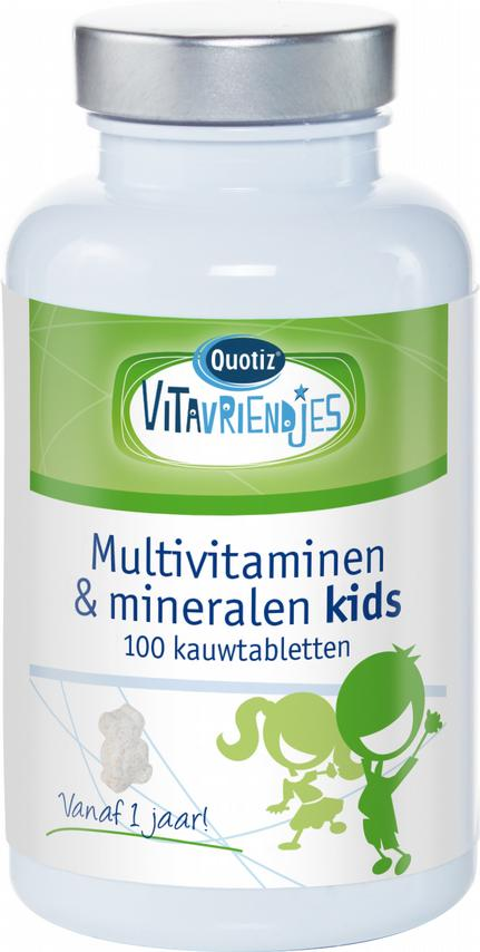 Multivitamine en mineralen kids_100tabl_200ml_Vitavriendjes_Quotiz